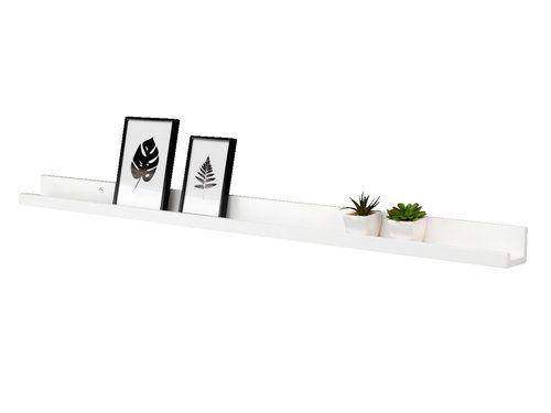 Ράφι γ/κορνίζες AGEDRUP 115cm λευκό | JYSK
