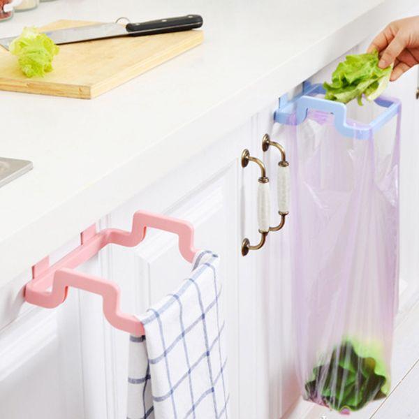 Hanging armadio cucina porta posteriore del basamento di stile sacchetti di rifiuti di immondizia rack di stoccaggio portasciugamani