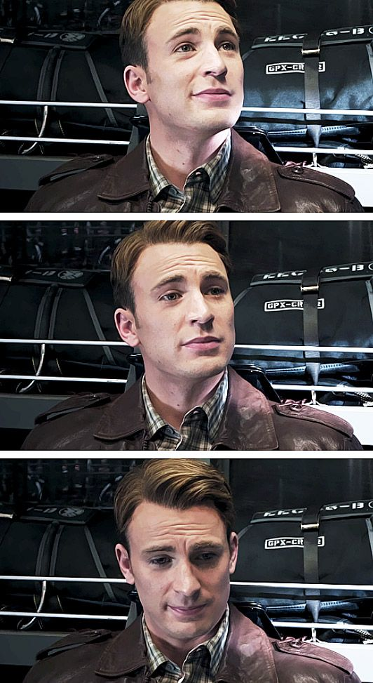 Steve Rogers, looking more and more at a loss for words.