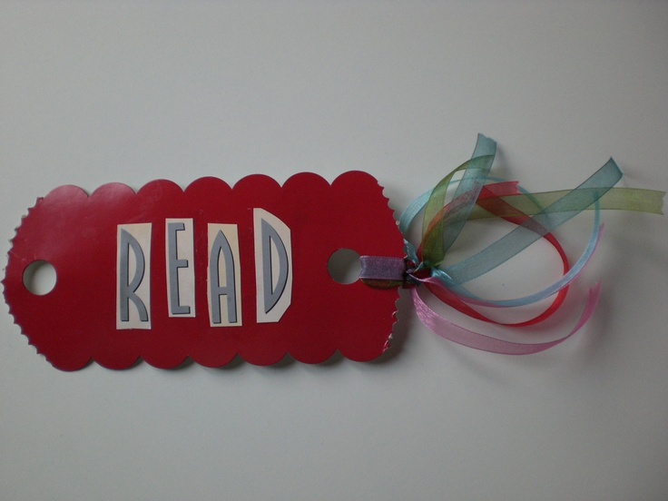 "RED ""READ"" BOOKMARK WITH RIBBON DIY"