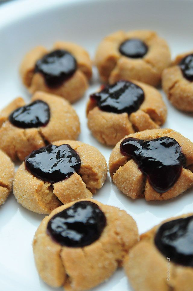peanut-butter-jelly-thumbprints | Cooking for kids | Pinterest