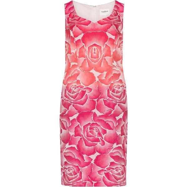 Studio 8 Orange / Red Plus Size Rose print jacquard dress ($180) ❤ liked on Polyvore featuring dresses, orange, plus size, orange dresses, plus size red dress, plus size dresses, pink plus size dresses and pink floral dress