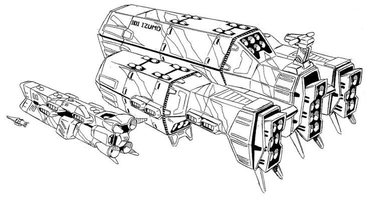 Ikazuchi-class Super Dimensional Carrier SDF-4 Garfish