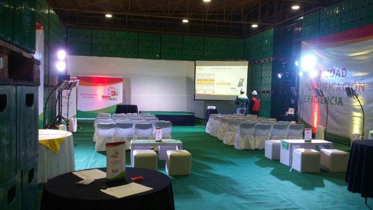 Ambientación evento CCU en Llay Llay