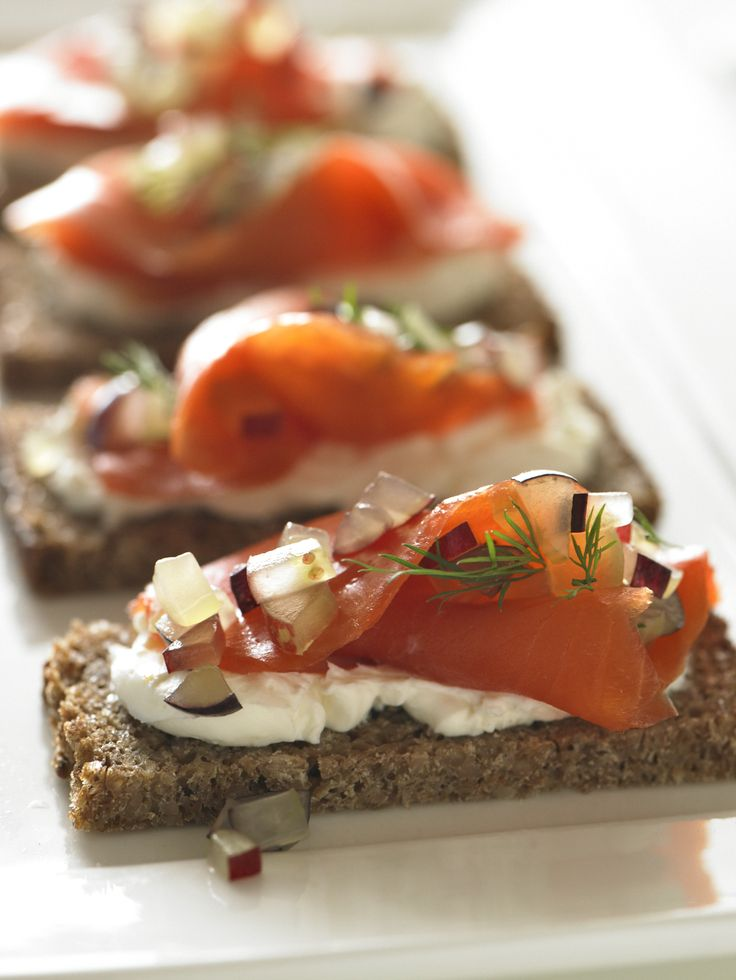 Picture Of Smoked Salmon And Grape Appetizer Recipe
