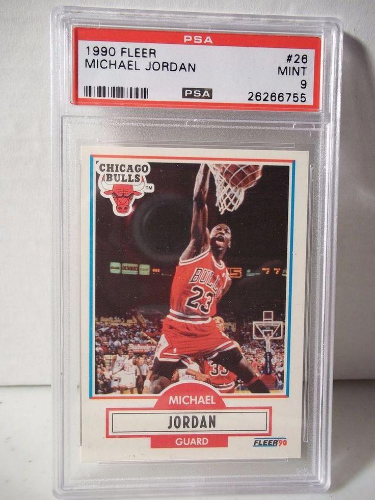 1990 Fleer Michael Jordan PSA Mint 9 Basketball Card #26 NBA Collectible #ChicagoBulls