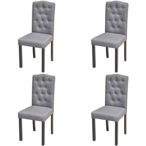 4x Esszimmerstuhl Esszimmerstühle Küchenstuhl Sitzgruppe Stoffbezug Dunkelgrau#Ssparen25.com , sparen25.de , sparen25.info
