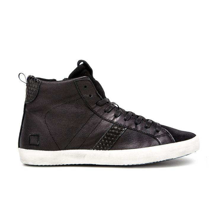 D.A.T.E. Fall Winter 2015-16 // Hill High Nappa Black. Shop at:http://bit.ly/1lrlXqX #datesneakers