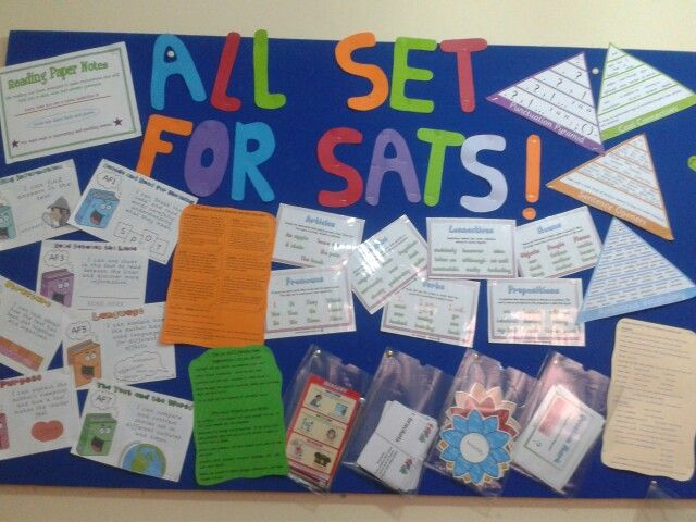 Classroom Revision Ideas ~ Sats display with various tips and tools for spag