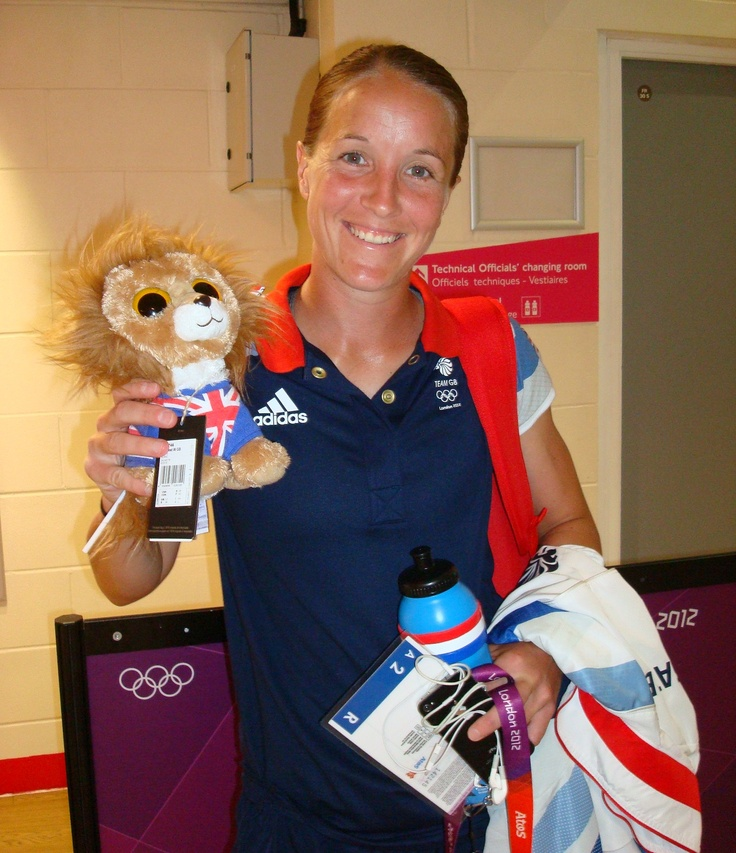 Team GB's Women's Football Team captain Casey Stoney with their cuddly mascot, Brian the Lion. The team had just beaten Brazil in front of over 70,000 fans at Wembley Stadium. A night to remember for women in sport. (SHEKICKS.NET)