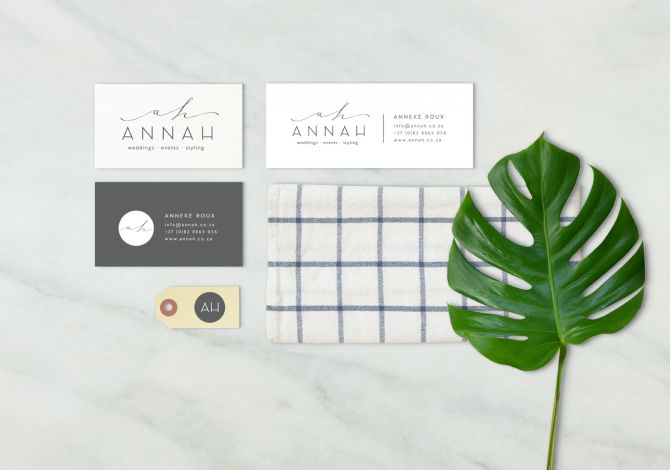 Stylist Logo Design | Corporate Identity | AnnaH | Susan Brand Design