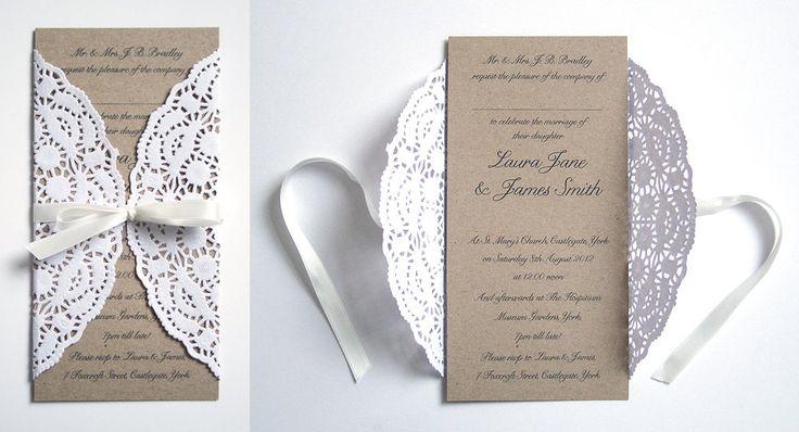 Love this doily invitation