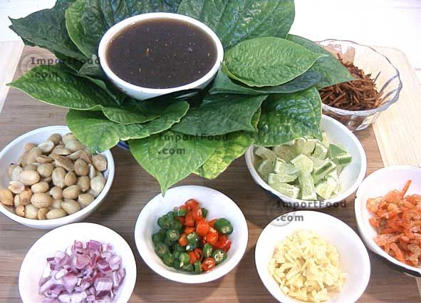 Authentic Thai recipe for Miang Kham from ImportFood.com.