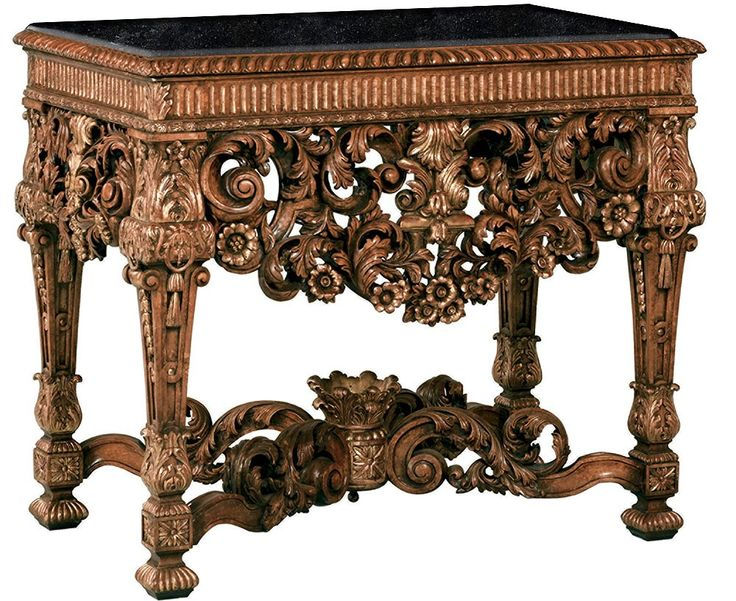 William And Mary Style Console Table