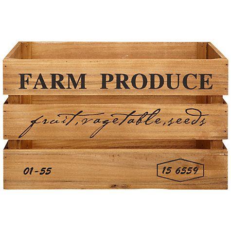 Buy John Lewis Botanist Large Wooden Crate Online at johnlewis.com