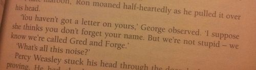 Gred and Forge spoke in sarcasm, a quality beloved by their peers.