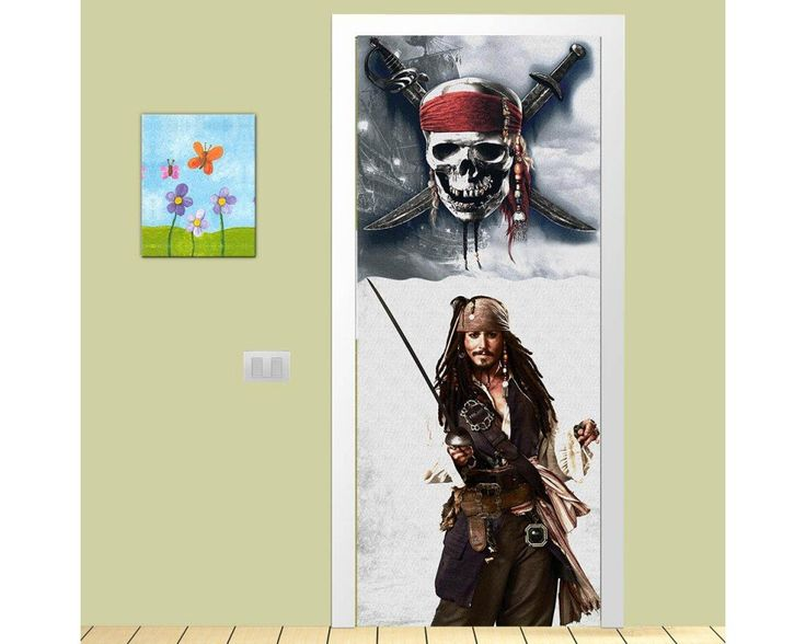 Captain Sparrow,αυτοκόλλητο πόρτας παιδικό , δείτε το!