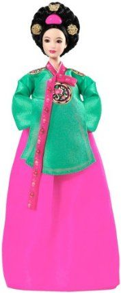 Dolls of the World: Princess of the Korean Court Barbie Mattel by Mattel. $59.95. Inspired by Korea's historically traditional costume, the Princess of the Korean Court Barbie wears a hanbok in the beautiful colors of spring