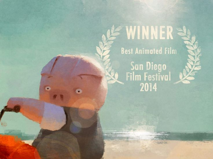 Pig is a little embarrassed to find out a little late but extremely honored that The Dam keeper had won the Best Animated Film award in the Competition Category at San Diego Film Festival over a month ago!!  Somehow, we didn't' know until Yesterday!   Thank you beautiful San Diego!!   http://www.sdfilmfest.com/2014-san-diego-film-festival-award-winners/