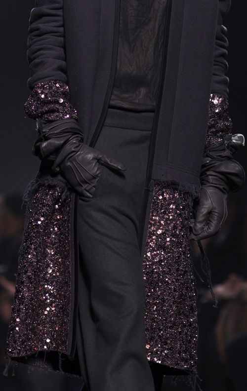 Haider Ackermann fall ... love the men's wear wool mixed with sequins. I wish I had this.