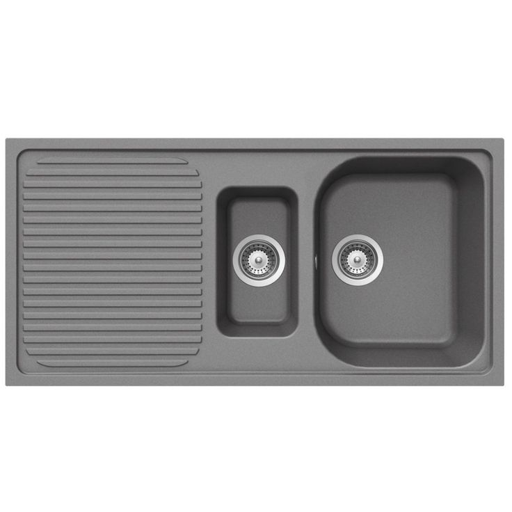 Schock Lithos D150 1.5 Bowl Granite Croma Grey Kitchen Sink & Waste LITD150CR