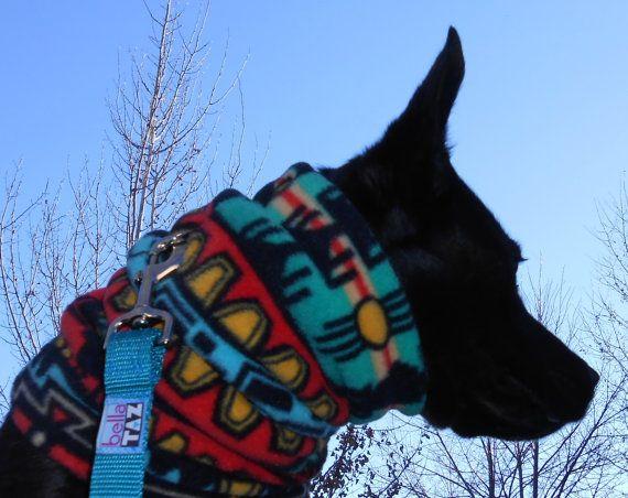SW dog neckwarmer snood neck warmer gaiter scarf by bellaTAZ