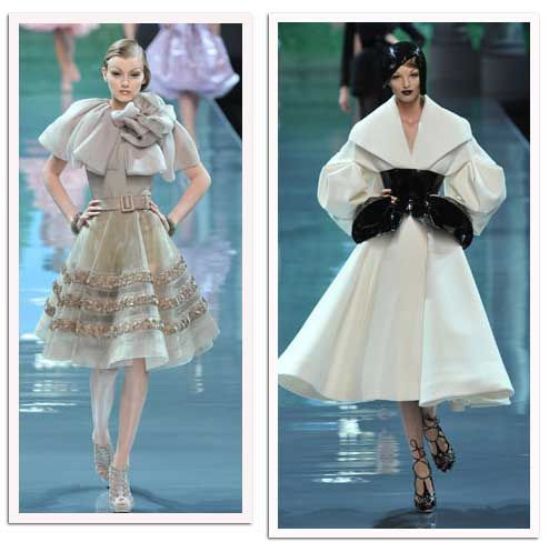 Sights for Sore Eyes: Christian Dior Fall Couture 2008  - the one on the right is sooooo amazing