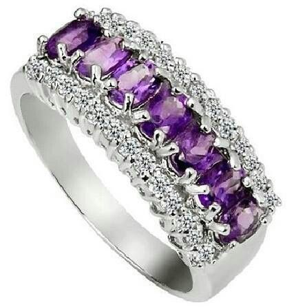 Purple Incredible Diamond & Amethist Ring...