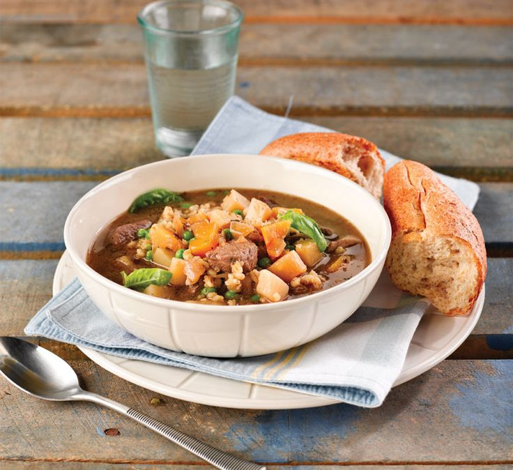 This healthy lamb and barley soup recipe makes a great simple speedy supper that's low in fat and salt.