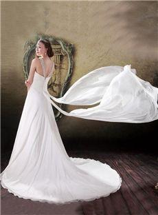 A-line Floor-Length Beach  All Sizes Beading Sleeveless Summer Zipper-up Wedding Dress
