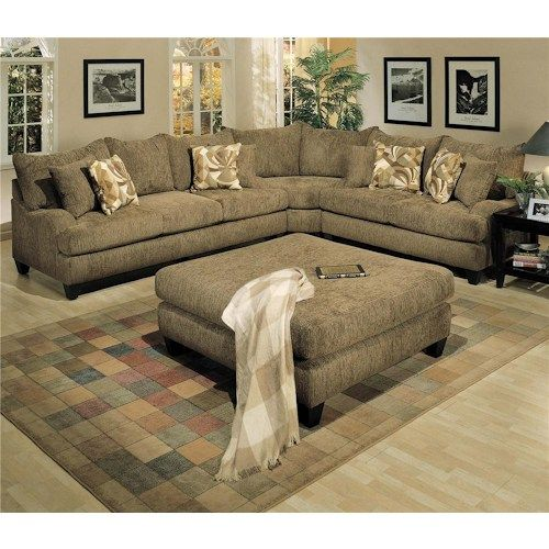 Robert Michael Long Street Sofa And Loveseat With Corner Curve