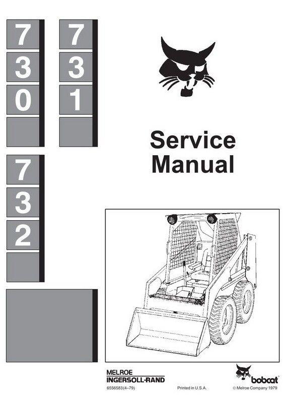Software Bobcat 730 731 Part Number # 6556583 732 Skid Steer ...