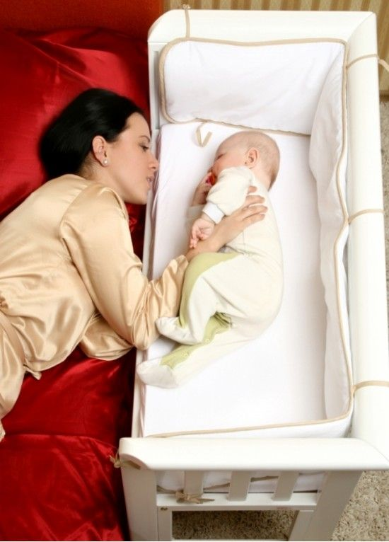 Co-sleeper.  Great for those first few months, no need to get outta bed. Can breast feed from bed. Baby falls back asleep easier & not in the actual bed !!!!