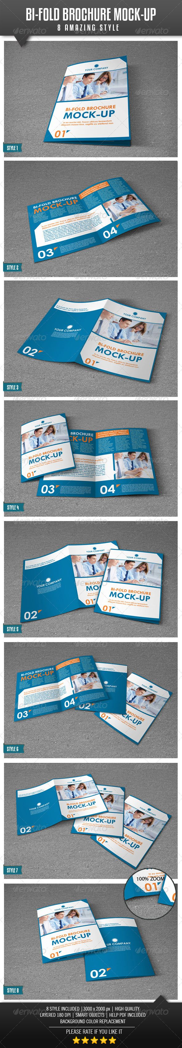 BiFold A4 Brochure Mockup — Photoshop PSD #realistic #business • Available here → https://graphicriver.net/item/bifold-a4-brochure-mockup/4443632?ref=pxcr
