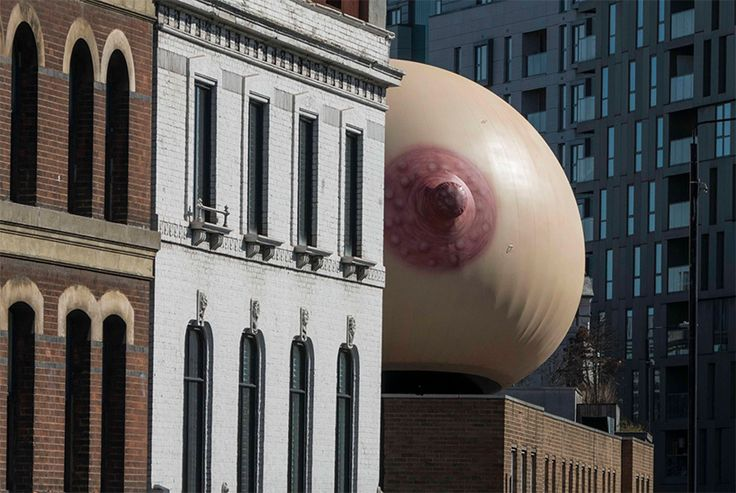 to raise awareness around the social stigmas of breastfeeding, a london-based creative agency added a surprising, oversized breast to the streets of shoreditch.