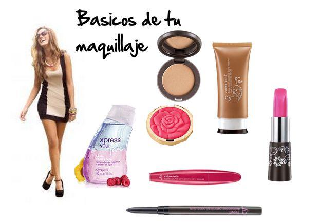 basicos para el maquillaje diario desmaquilladora polvo rubor base pestañina delineador labial