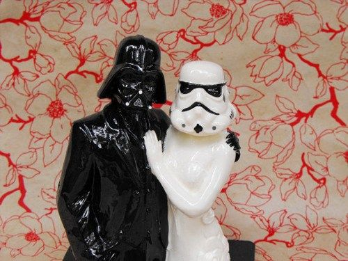 Star Wars Couple Cake Topper Handmade in the USA | dnacreations - Wedding on ArtFire