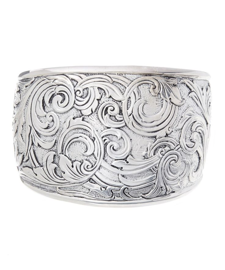Look at this Sterling Silver Floral Swirl Cuff Bracelet on #zulily today!