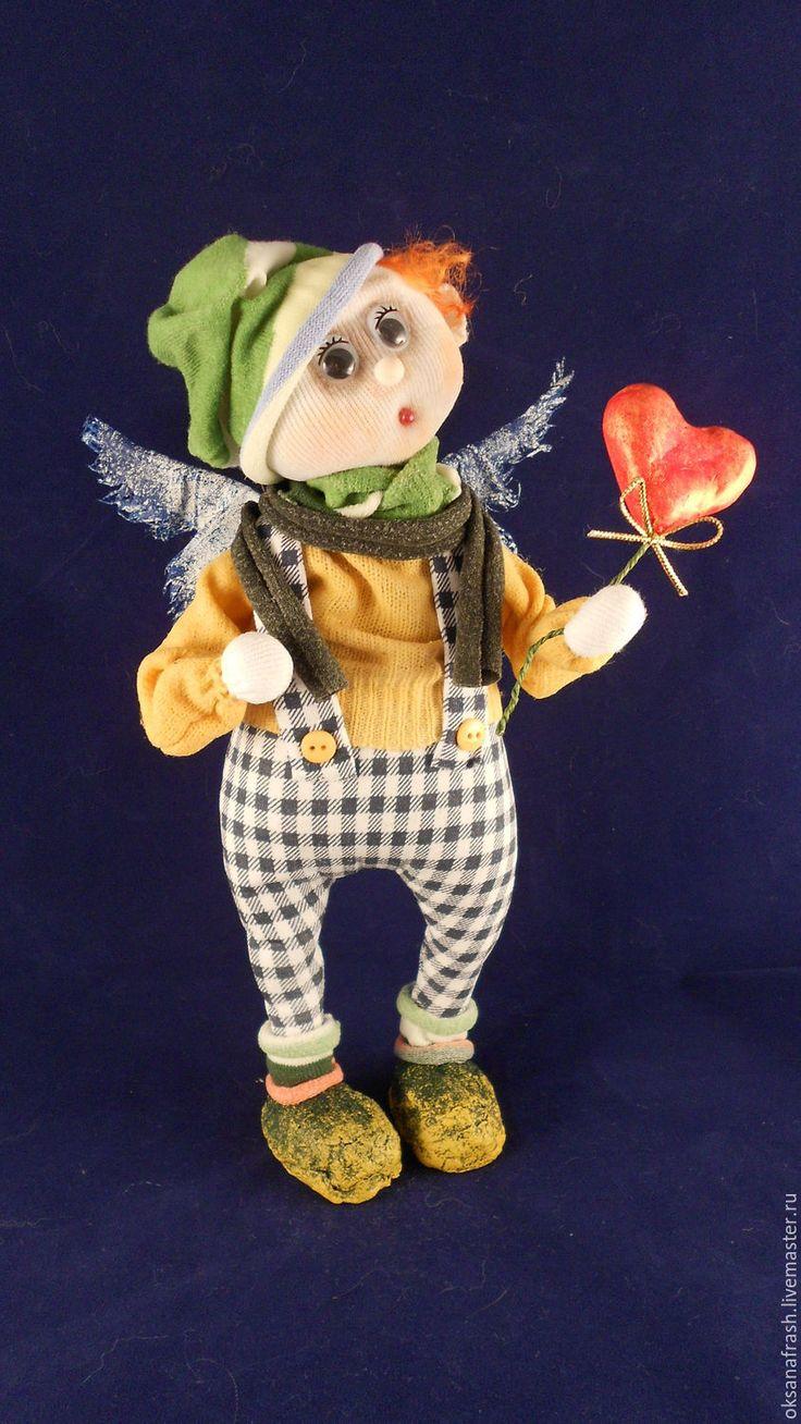 Купить Ангел Пашка - комбинированный, ангел, ангел-хранитель, сердце, свитер, рыжий, крылья ангела