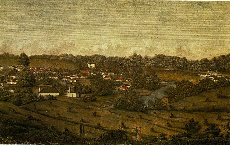 "Parramatta 1812. In an Aborigine language ""the place where the eels lie down"" Parramatta was the most fertile area near Sydney the earliest colony could find to grow much needed vegetables."