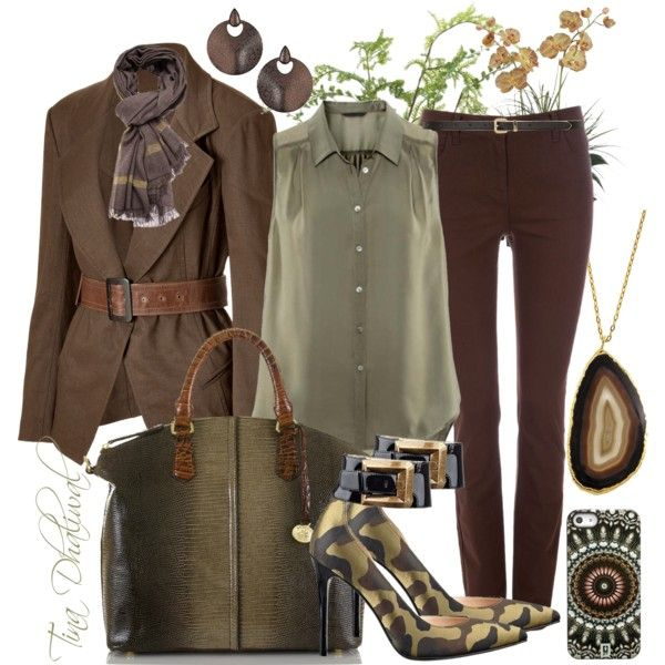 """""""THE LEAVES HAVE CHANGED COLORS"""" by tinadhaliwal on Polyvore dressy casual outfit"""