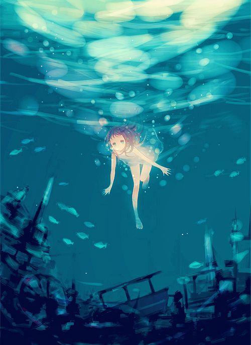 Most popular tags for this image include: anime, anime girl, art, kawaii and…