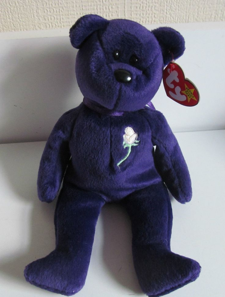 Rare Limited First Edition Princess Diana Beanie Baby With no Space Tag 1997 made in Indonisia from P.E.Pellets in Pritine Condition by QuintessentialByTony on Etsy