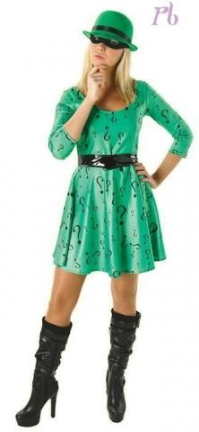 Ladies Riddler Fancy Dress Costume
