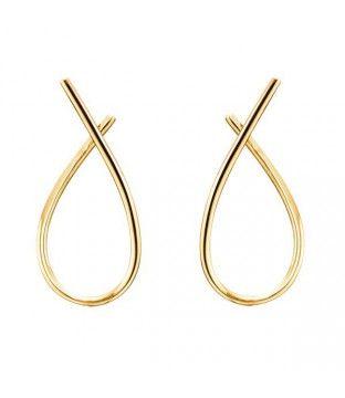 Sølvforgyldte ørehængere i elegant design til kun 195 kr.