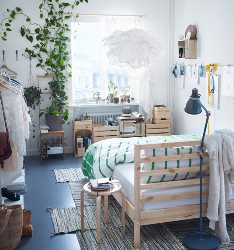 potential bed placement option. (maybe separate from the headboard and just use headboard as a shelf unit)