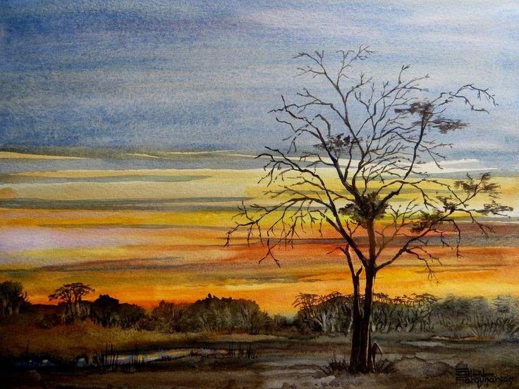 Sunset near Klein Aus, Namibia