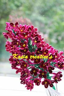 Creative blog: 3D Lilac flowers (quilling)