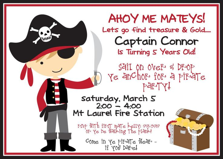 278 best birtday images on pinterest first birthday invitations birthday invitation birthday invitation wording free invitation for you free invitation for you pirate party stopboris Images