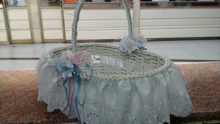 Canasta para souvenir  bautizo o primera comunion